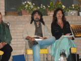 Lance Henson e la sua traduttrice Mariella Lorusso a reading poetico a Selva Malvezzi