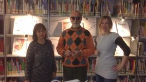 mostra disegni e Livio Maccagnani, bibliotecaria e consigliera del comune con delega cultura